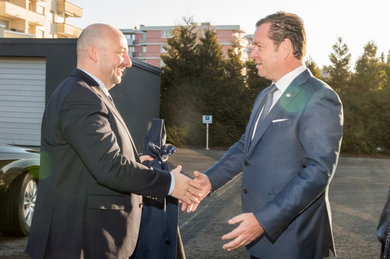 Visit of the hereditary Grand Duke Guillaume